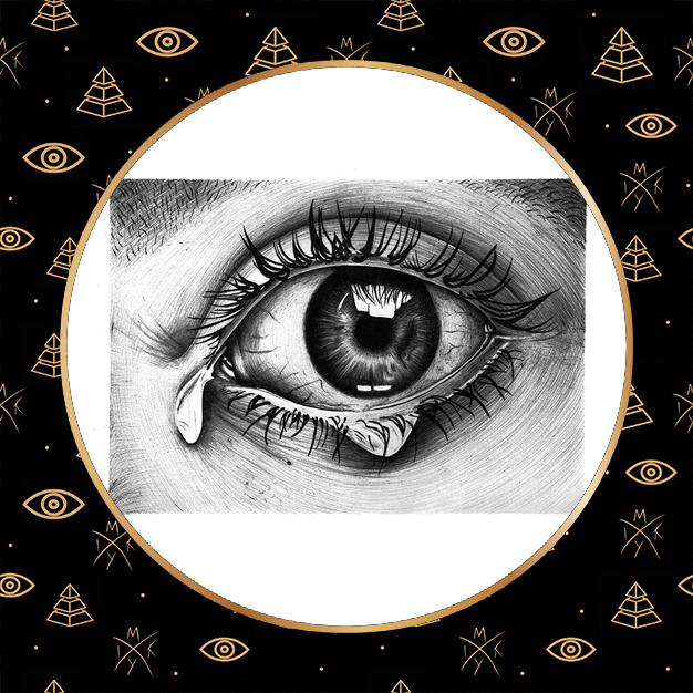 occhio realistico a penna