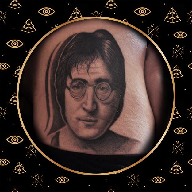 Tattoo ritratto John Lennon