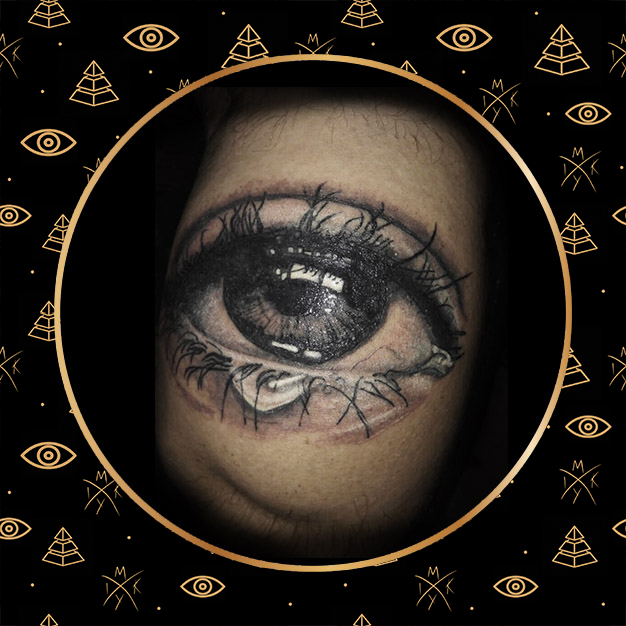 Tattoo occhio realistico