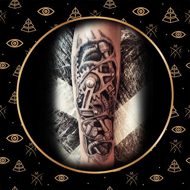 Tattoo braccio meccanico by Miky Ink