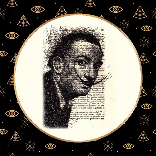 ritratto scribble Dalì