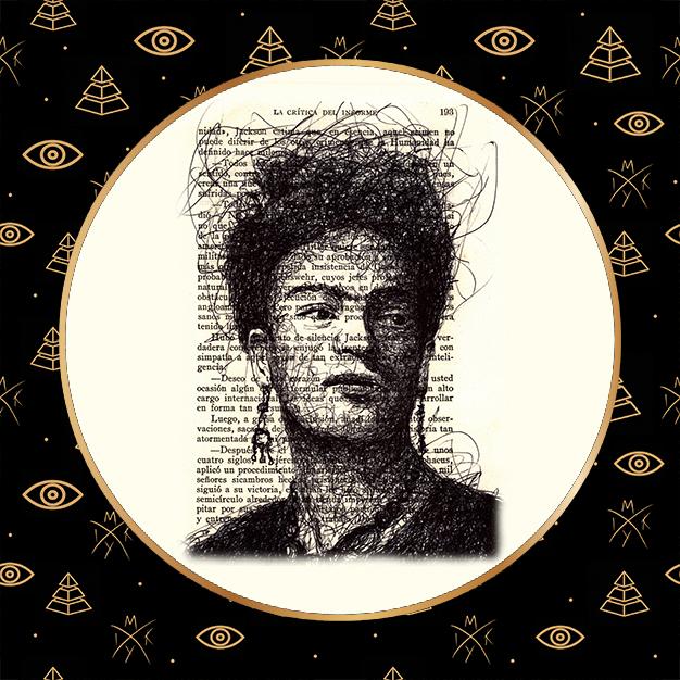 Ritratto scribble Frida Kalo