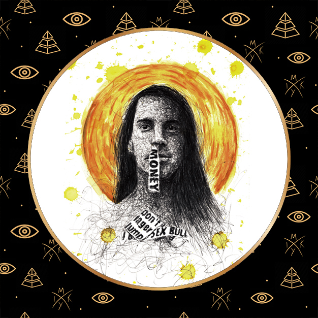ritratto scribble Anthony Kiedis