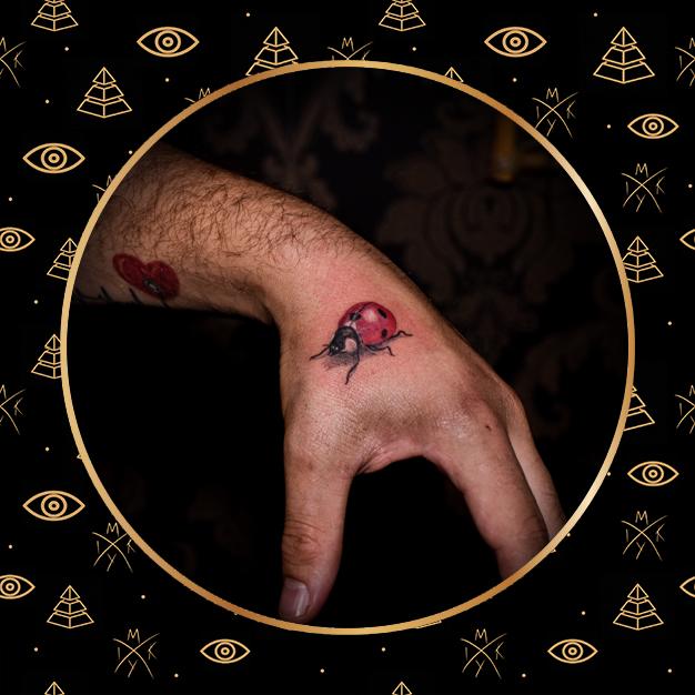 coccinella 3d realistica tattoo