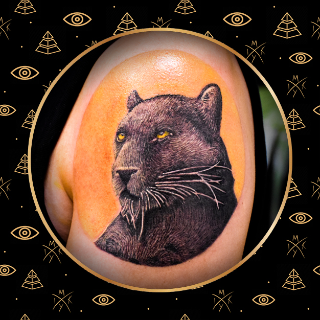 Pantera realistica tattoo