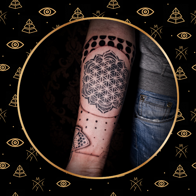 braccio geometrico tattoo